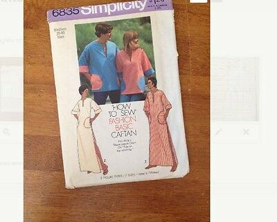 """1970's caftan mens unisex sewing pattern size medium chest 38""""-40"""" 70s"""