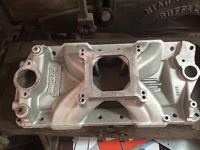 Victor J.R. intake small block chevy never cut on nice