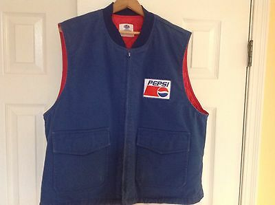 Vintage Large 1980's Early 90's Riverside Pepsi Cola Route Driver Vest