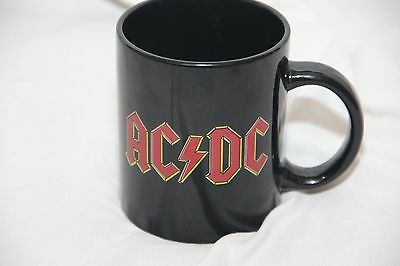 AC/DC, Mug Black with Red Lettering