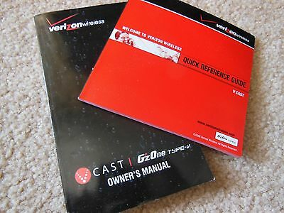VINTAGE VERIZON GzONE TYPE-V OWNER MANUAL AND REFERENCE GUIDE