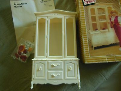Vintage 1978 Sindy Doll China Cabinet With Place Settings Pedigree Toys