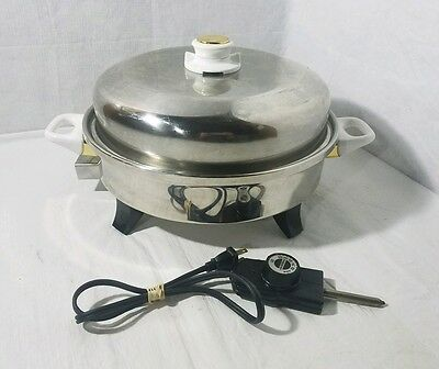 Health Craft Waterless STAINLESS AUTOMATIC Electric SKILLET #K7273. Oil Core