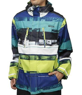 Rip Curl ANSWER SNOW JACKET Mens Snowboard Ski Waterproof Jacket Green Size S