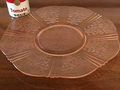 Pink Depression Glass American Sweetheart Salver Chop Plate Macbeth Evans