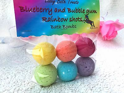 Mini rainbow shot Bath Bombs - Bubblegum and Blueberry scented - KIDS BOMBS