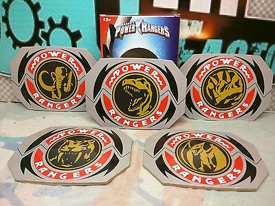 POWER RANGERS COASTERS - Set of 5 - Nerd Block - 03/17