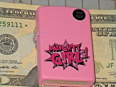 New Special Edition ZIPPO USA Windproof Flame LIGHTER Naughty Girl ! Pink Matte