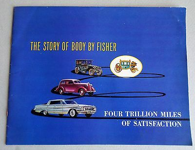 """1961 FISHER BODY,"""" The STORY OF BODY BY FISHER."""" GENERAL MOTORS BOOKLET"""