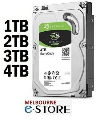 Seagate Barracuda Desktop Internal SATA3 Hard Drive 1TB 2TB 3TB 4TB 6TB 8TB HDD