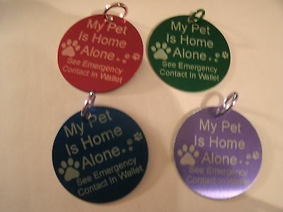 Pet Home Alone tag and wallet card