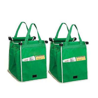 1PCS Foldable Tote Eco-friendly Reusable Supermarket Shopping Bags Green