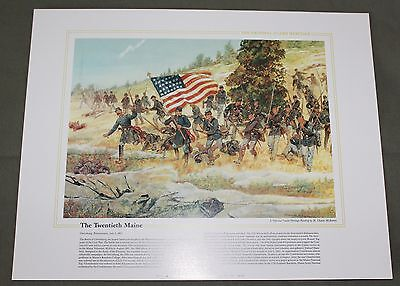 The National Guard Heritage Collectible Print The Twentieth Maine Gettysburg