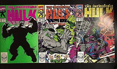 Incredible Hulk lot #375 376 377 NM/MT 9.6-9.8 warehouse find xcellent 4 grading