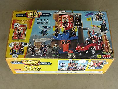 New Rescue Heroes Mountain Action Command Center Macc In  Box