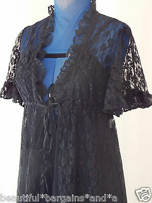 Womens Vintage Long NEGLIGEE NIGHTGOWN Robe Set S 6 Size 8 Ladies Sleepwear NEW