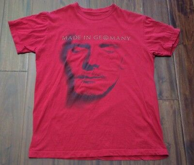 Rammstein Made In Germany Shirt Size M Double Sided Red