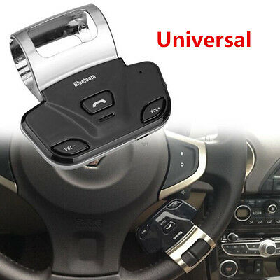 Steering Wheel Bluetooth Handsfree Car Kits - Support to connect 2 Mobile phones