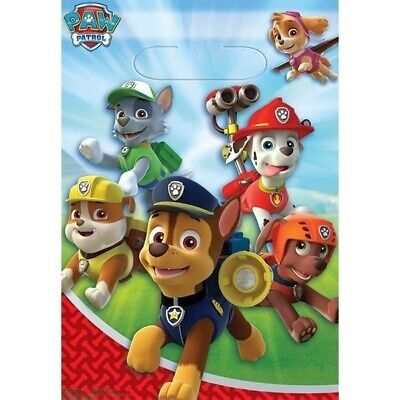 Paw Patrol Loot Bags x 8 Birthday Party Lolly Favours Supplies