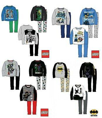 Boys Kids Children Lego City Ninjago Batman Pyjamas Set Pjs Age 3-10years