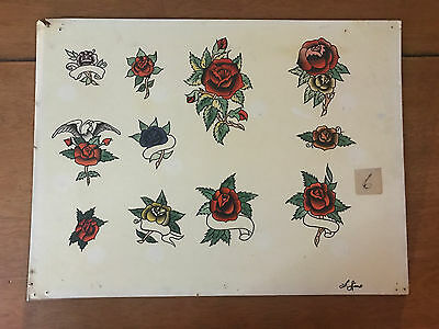 Authentic Vintage Old School US Tattoo Flash Phil Sims SIGNED #19