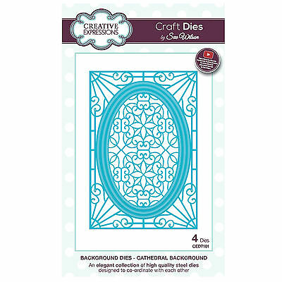 Craft Die CED7101 Sue Wilson Background Collection - Cathedral Background