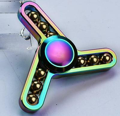 AU 3D Fidget Hand Finger Tri Spinner Toys EDC Focus Stress Reliever Kids,Adults