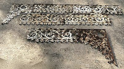 Antique 5m Cast Iron Victorian Veranda Lacework/Spandrel