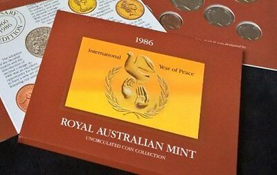1986 Mint Set - *royal Australia Mint* -Uncirculated Coins