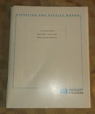Hewlett Packard HP Operating Manual DC Power Supply MPB Series Model 6291A 6G