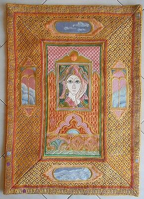 French DECORATIVE WALL Tapestry : marked DE LA MARTINERIE