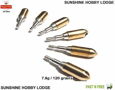 Archery Crossbow Whistling Broadhead 6 Pack Of Whistle Tips Copper Points 11/32""