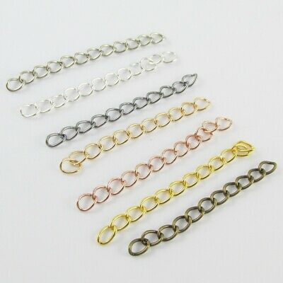 Bulk 50pce DIY Iron Extender Chain Finding 50mm Select Colour
