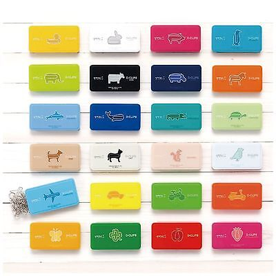 Midori D-Clips Box Of 30 Paper Clips Cute Animal Clips Kawaii Japan