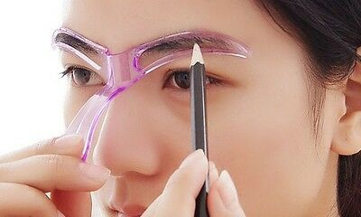 Pinky Eyebrow Stereo Shaper Stencil Template Brow Drawing Make Up DIY Tool
