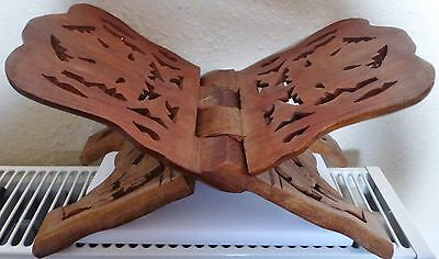 Quran Holder Book Stand Rihal Rehal Wooden Carved Eid (BX5)