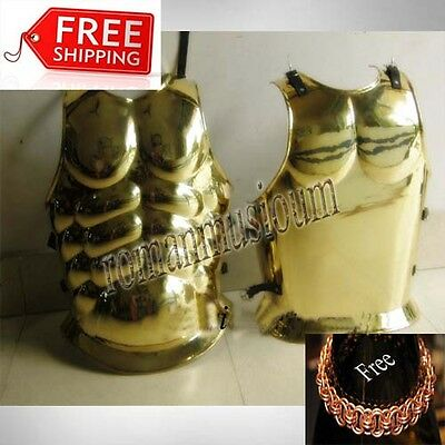 ROMAN ARMOUR CUIRASS ANTIC REPLICA BRASS GREEK MUSCLE COSTUME PROP free Shipping