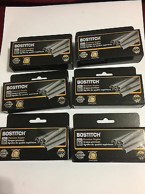 """6 Boxes Stanley Bostitch B8  1/4"""" Power crown chisel point total 30000 Staples"""
