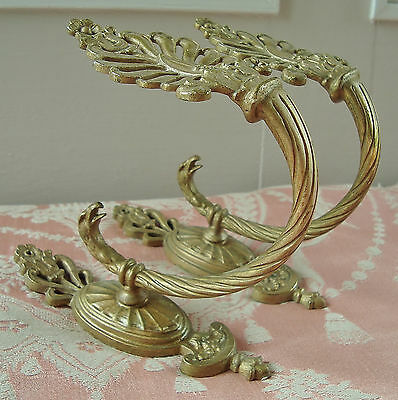 Rare Tie Back Hooks Hold Backs Eagle Head Motifs Antique French Embrasses Bronze