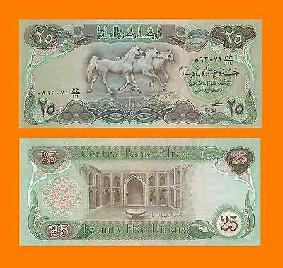 Iraq 25 Dinar ★★ Billete 25 Dinares Iraqui Caballos ★★ Ticket Billet  Biglietto