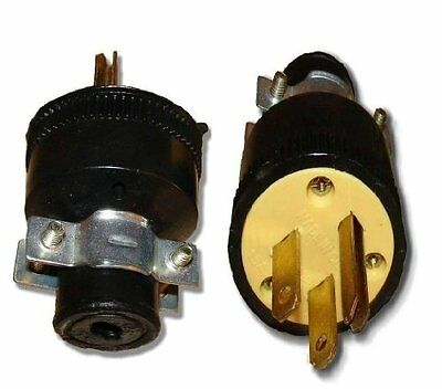 Wholesale 25 Pack Heavy Duty 3-Prong Male Electrical Plug Replacement 125V 15A