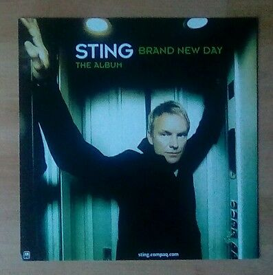 "STING -Promotional 12"" x 12"" Card (Flat) BRAND NEW DAY (ideal for framing)"