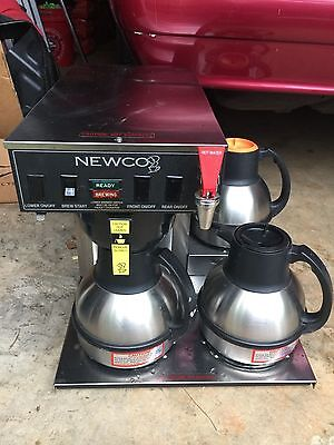 Newco 3 Lower Burner Coffee Maker Machine Brewer Model Ace-Lp W/ Hot Water