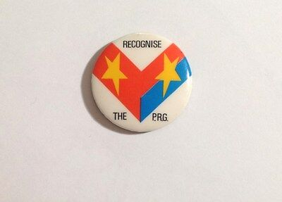 1970's protest badge - Recognise the P.R.G - South Vietnam