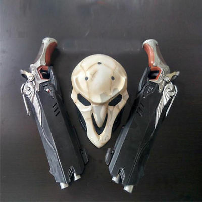 1:1 Mens Overwatch Reaper Double Guns Mask Cosplay Cos Props weapon Gun New