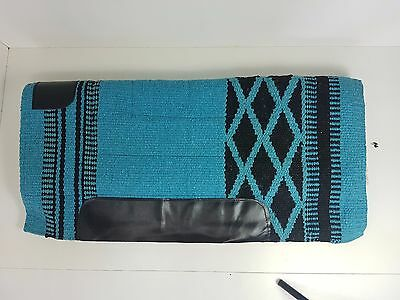 Aqua Stock Saddle Western Stock Saddle Thick Fleece Pad Blanket Navajo Dari Pad
