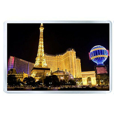 AU FRIDGE  MAGNET las vegas buildings night lights city 48222