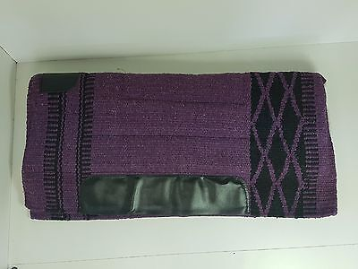 Purple Stock Saddle Western Stock Saddle  Fleece Pad Blanket Navajo Dari Pad