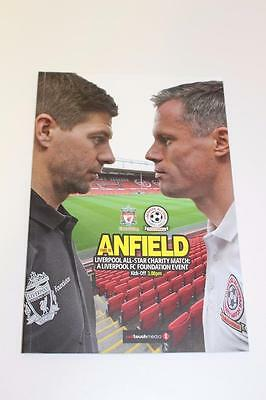 LIVERPOOL ALL STAR CHARITY MATCH PROGRAMME GERRARD v CARRAGHER (29th March 2015)