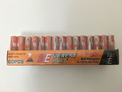 60 pack AAA Batteries Extra Heavy Duty 1.5v. 60 Pack Wholesale Bulk Lot
